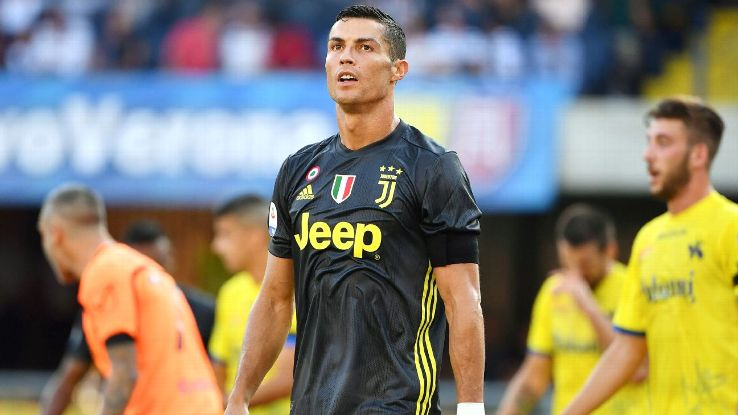 Cristiano Ronaldo's debut was a spectacle unlike any previously seen in Italy.