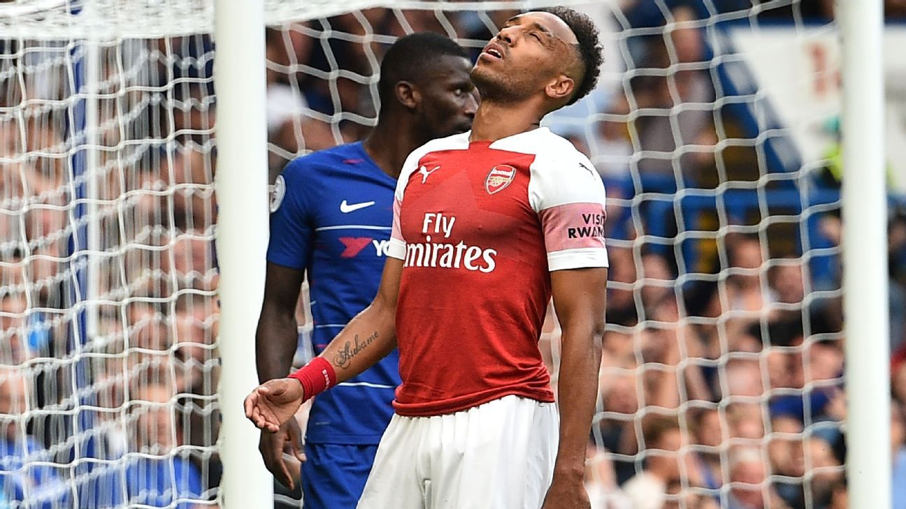 Pierre-Emerick Aubameyang has struggled to hit the back of the net.