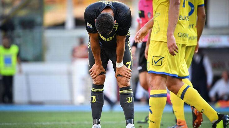 Cristiano Ronaldo failed to score on his debut despite seven shot attempts against Chievo.