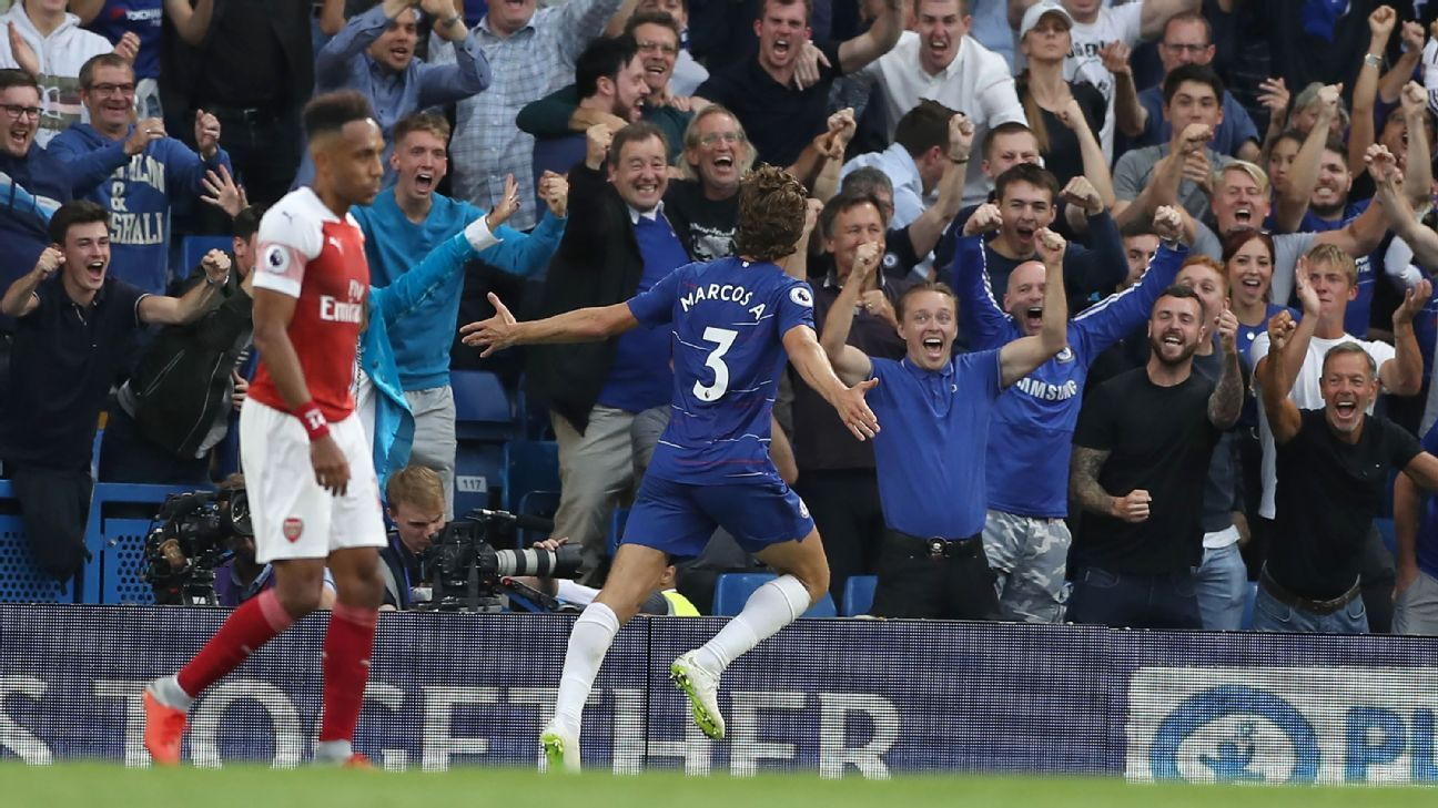 Marcos Alonso was the Chelsea hero with a late winner vs. Arsenal.