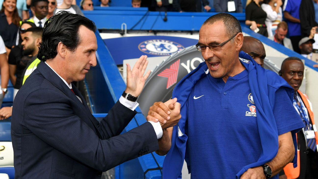 Unai Emery's Arsenal have already fallen six points back of Maurizio Sarri and Chelsea.