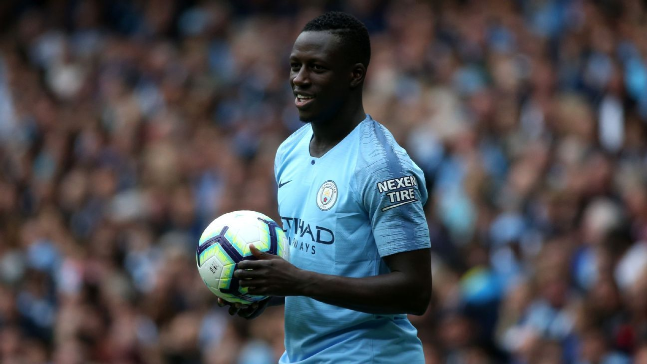 Benjamin Mendy provided two assists in Manchester City's 6-1 win over Huddersfield.