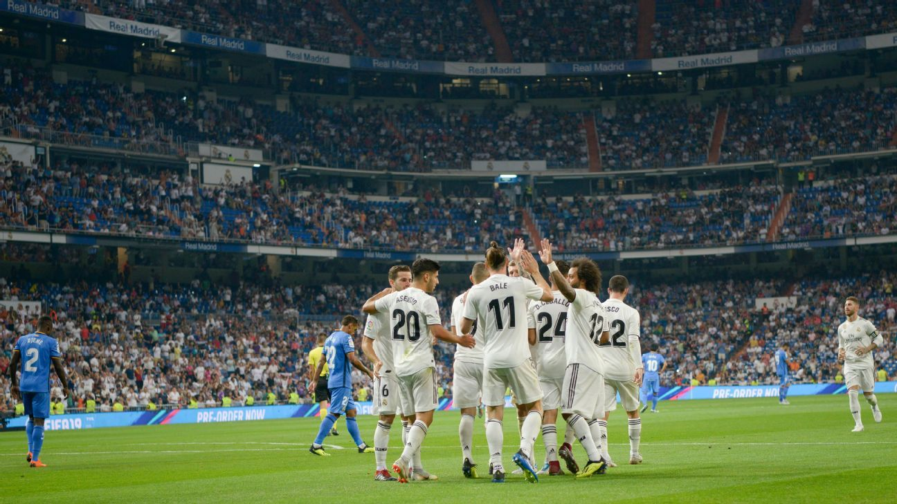 Real Madrid's first La Liga match since Cristiano Ronaldo left was at a half-full Bernabeu