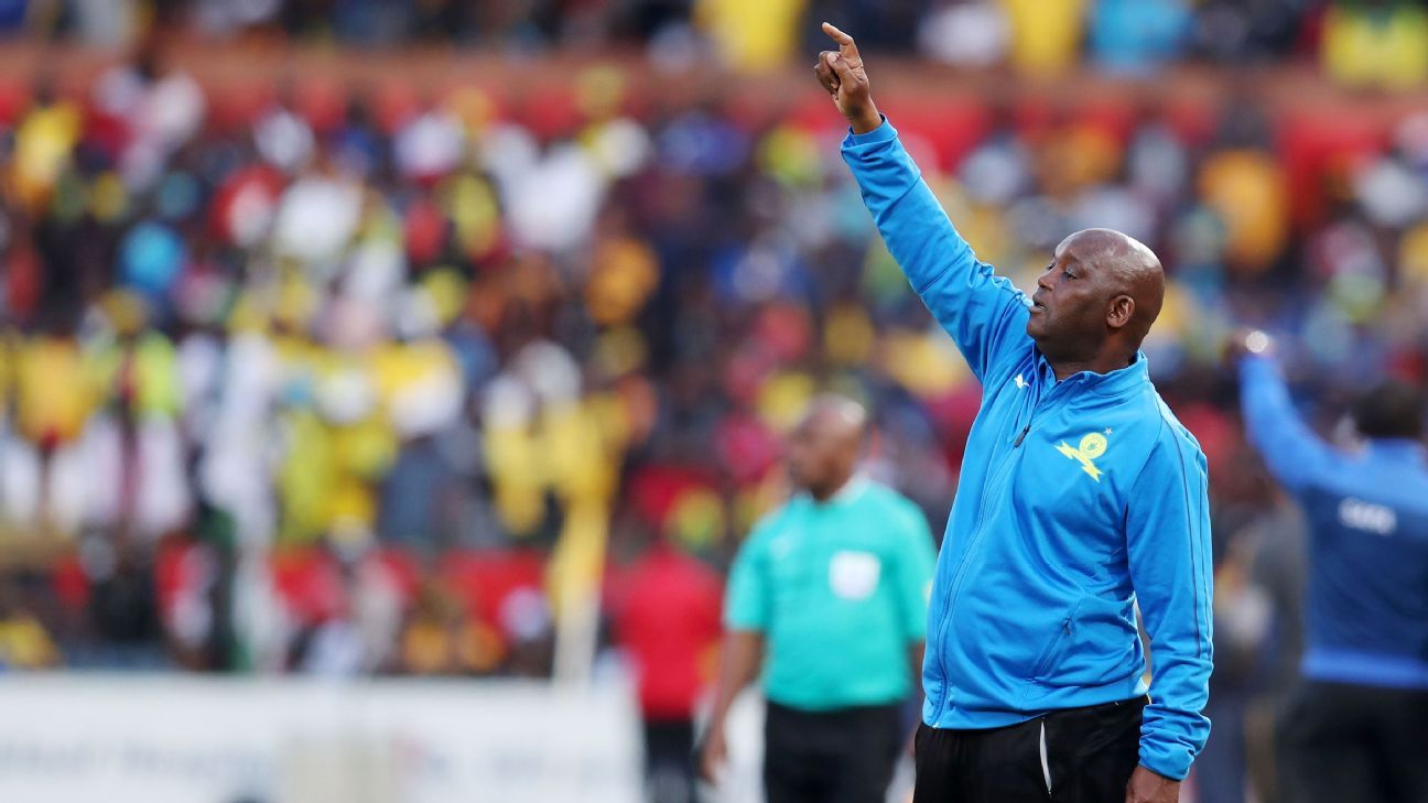 Mamelodi Sundowns coach Pitso Mosimane during an Absa Premiership match against Kaizer Chiefs at Loftus Versveld on 04 August 2018.