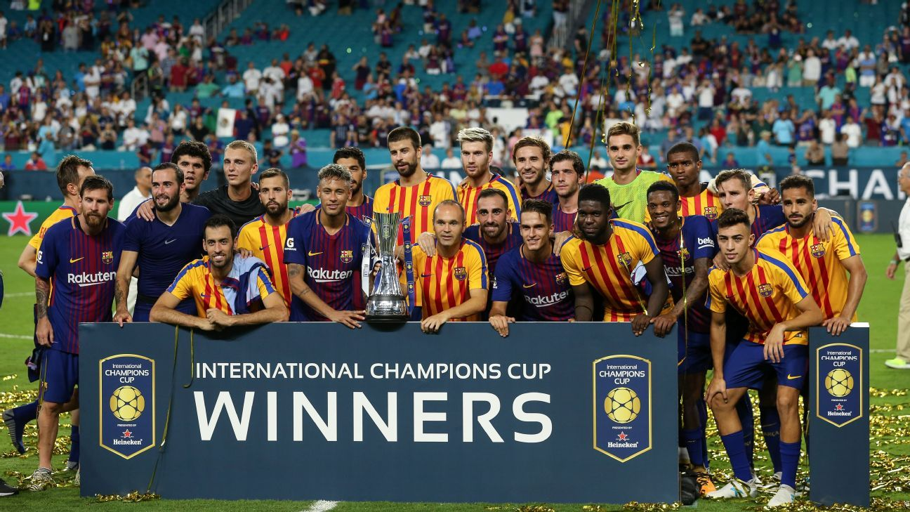Barcelona have played in the U.S. during the ICC, but will a regular-season game be next? It's an idea that has traditionalists (and the players' union) upset, but it's the logical next step for the business of football.