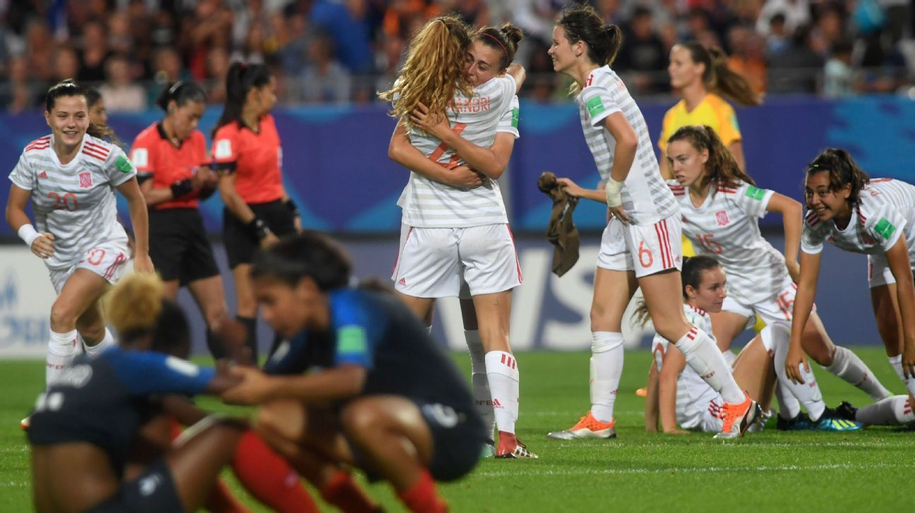 France were left to rue a missed penalty and not taking advantage of Spain being down to 10 in the FIFA Under-20 Women's World Cup semi-finals