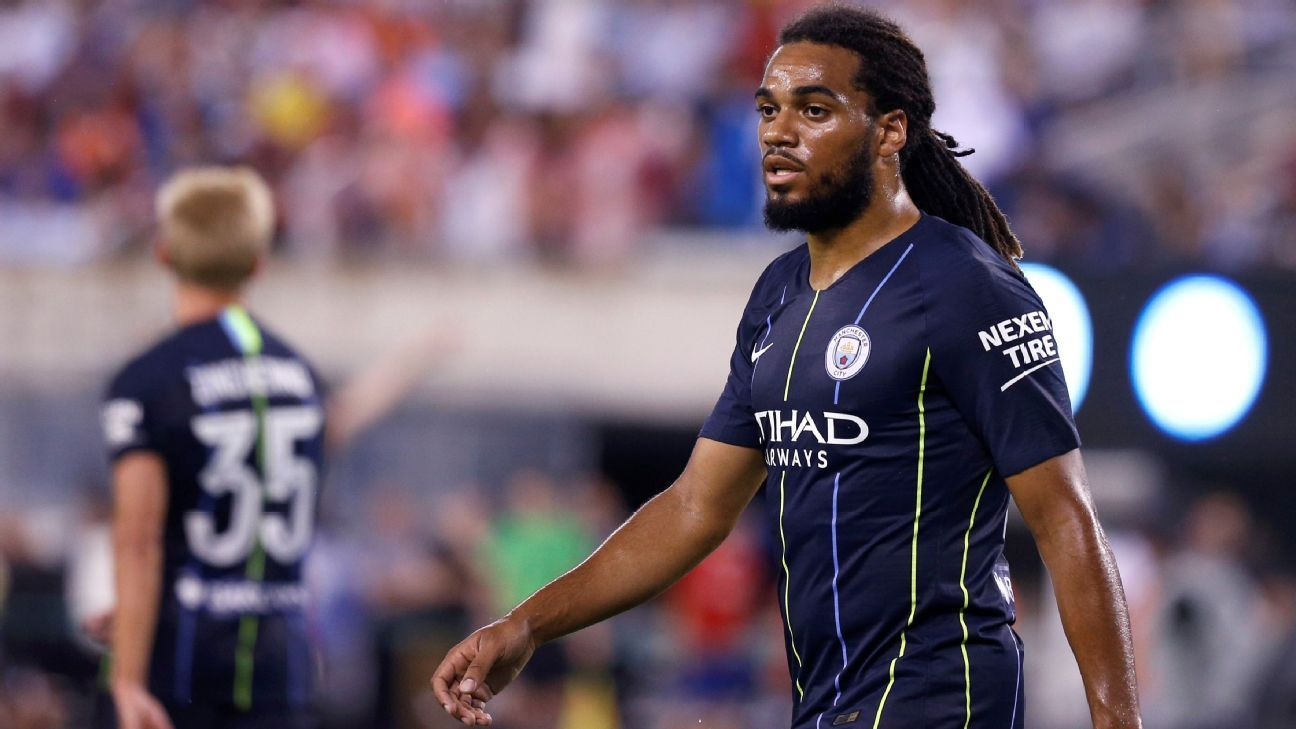 Manchester City's Jason Denayer during a friendly against Liverpool.