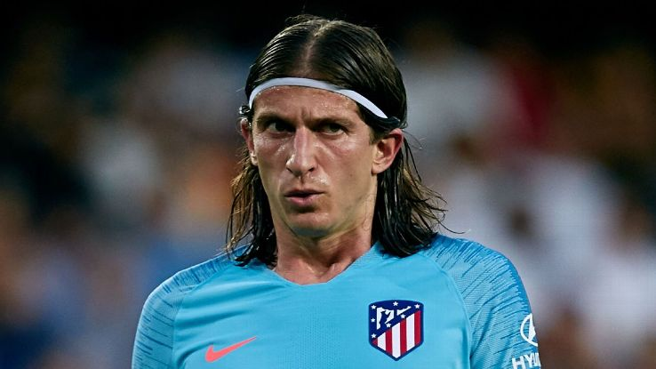 Atletico Madrid's Filipe Luis during the La Liga match against Valencia.