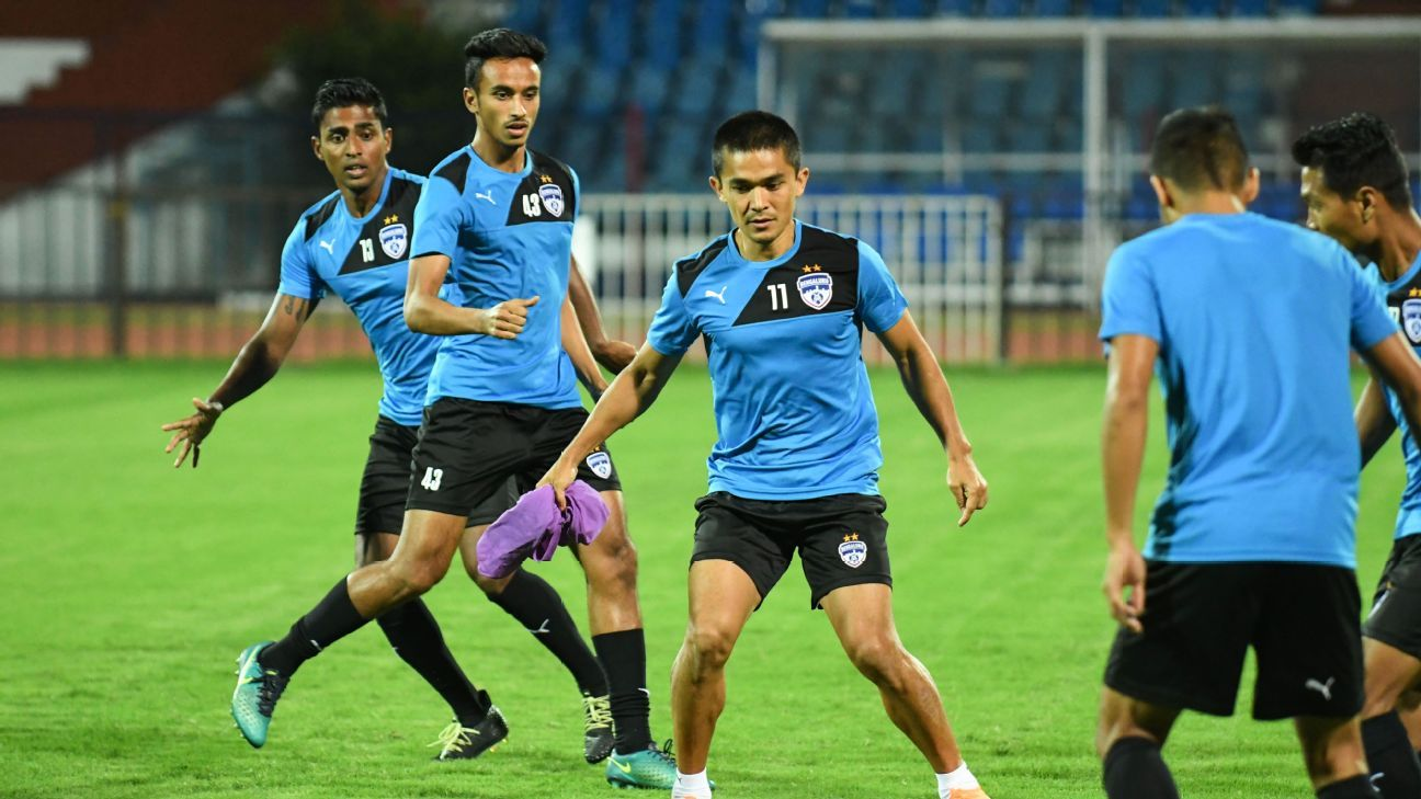 Bengaluru FC train ahead of the AFC Cup clash vs Altyn Asyr.
