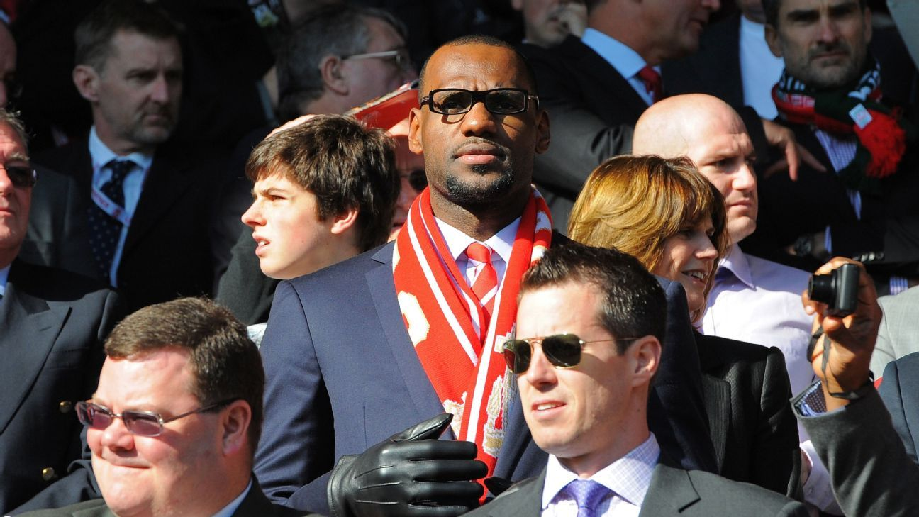 LeBron James is big soccer fan, owning a two percent stake in English side Liverpool.