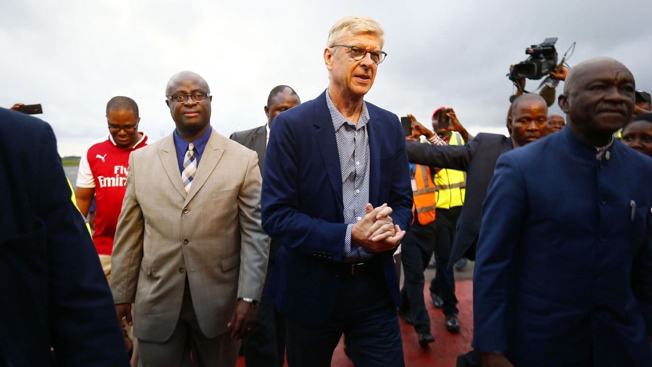Arsene Wenger travelled to Liberia to receive the country's highest honour from president George Weah