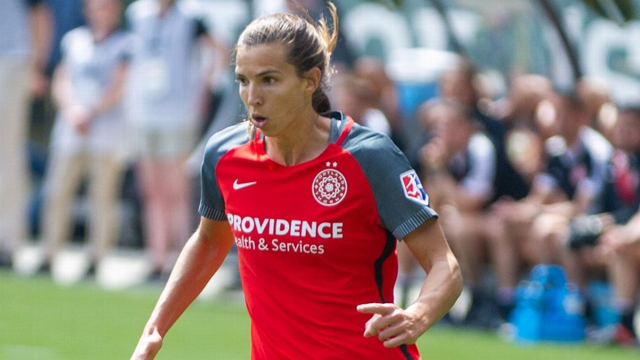 The Portland Thorns' Tobin Heath scored in the second half of the win over Sky Blue FC.