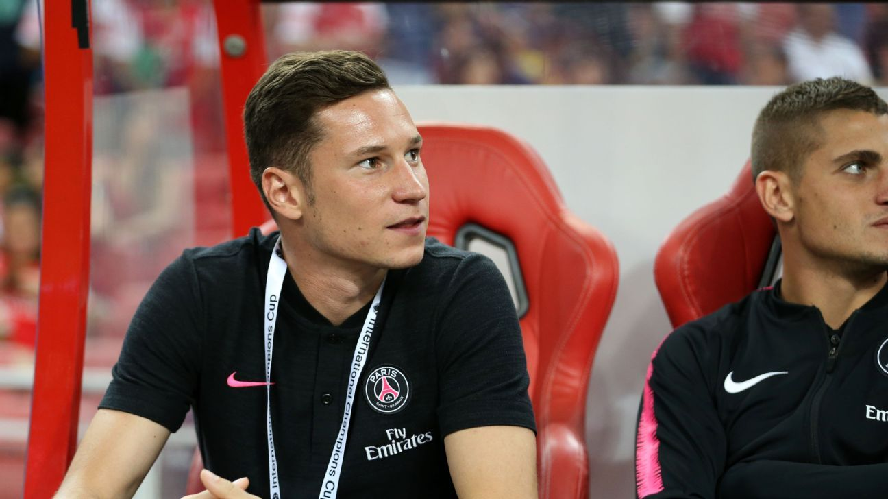 German star Julian Draxler has been the odd man out in attack for PSG under new boss Thomas Tuchel.