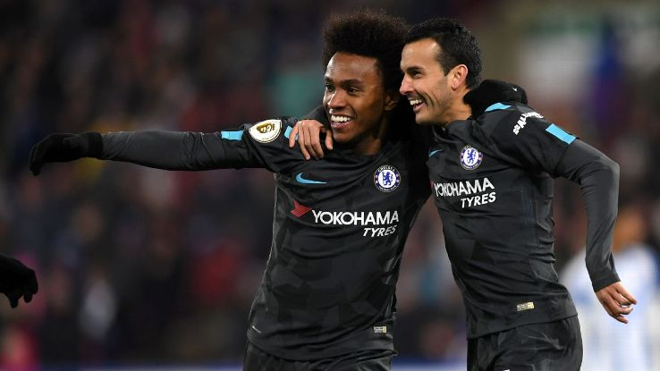 Willian and Pedro both have a legitimate claim to start for Sarri at Chelsea. Who will get more playing time?