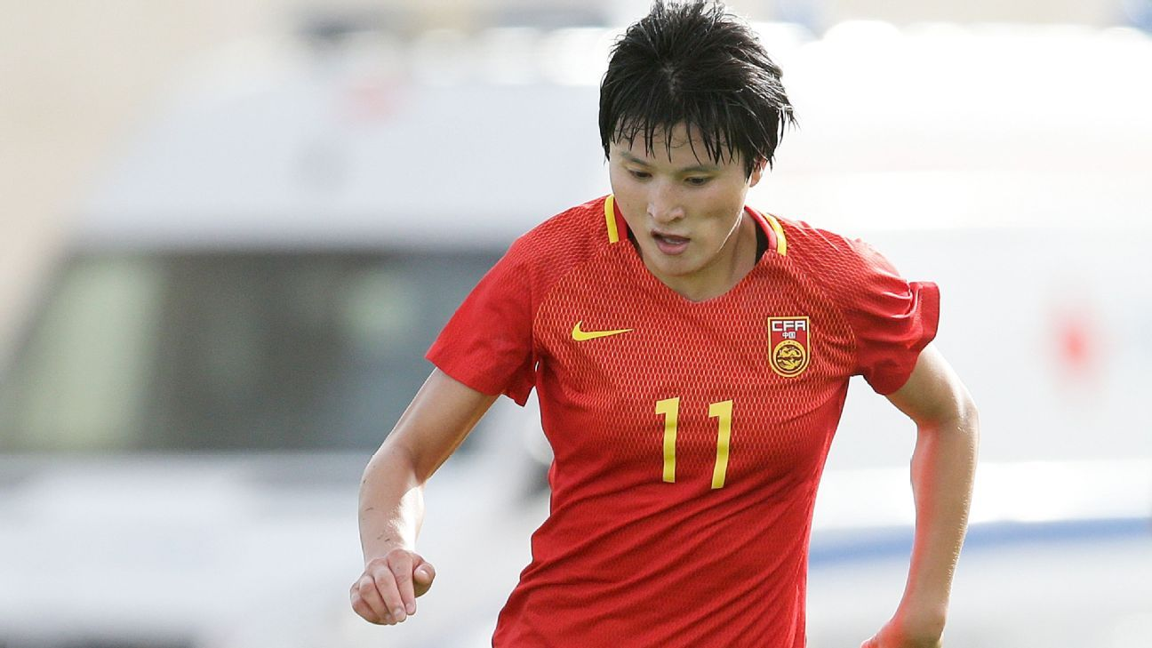 Wang Shanshan of China PR during the Algarve Cup.