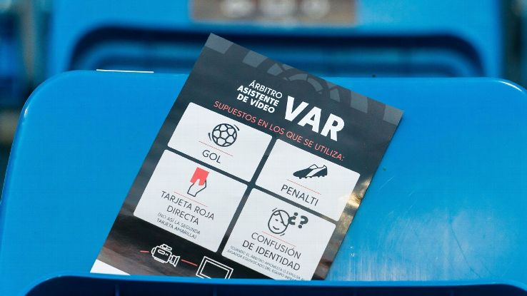 There is an education process around VAR, as shown by the leaflets put on seats at the Bernabeu prior to last Sunday's game between Real Madrid and Getafe.