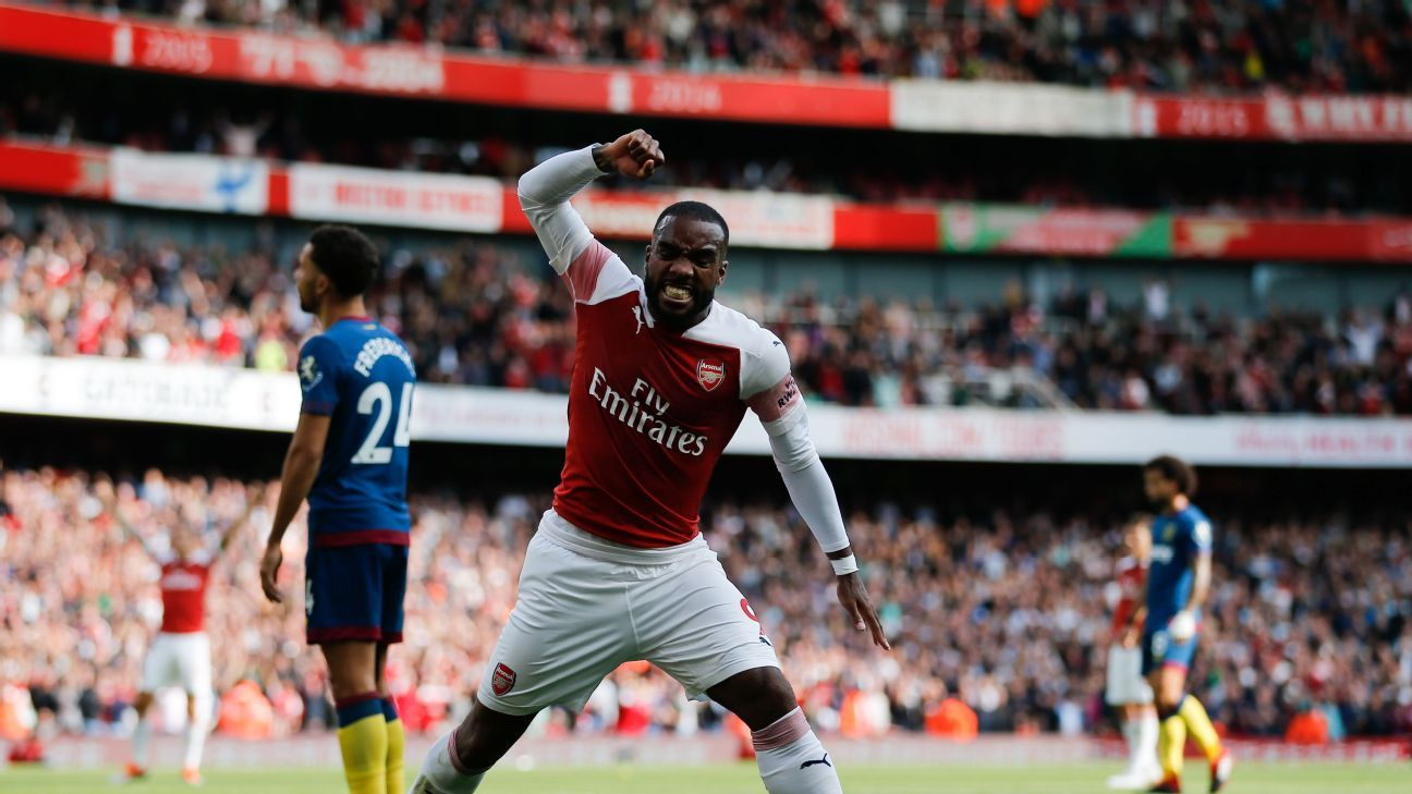 Alexandre Lacazette was the spark plug for Arsenal's much improved second half.