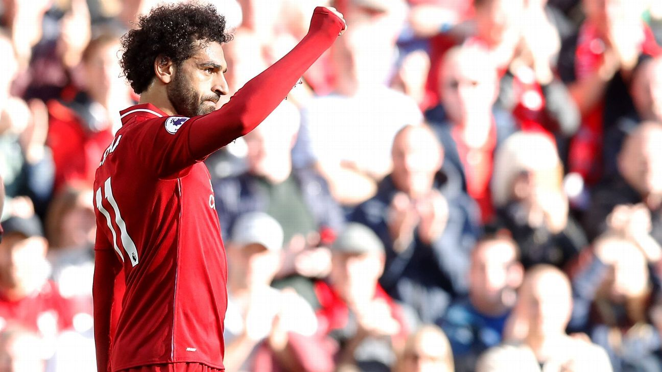 Mohamed Salah made it two in three with a well-taken finish against Brighton.
