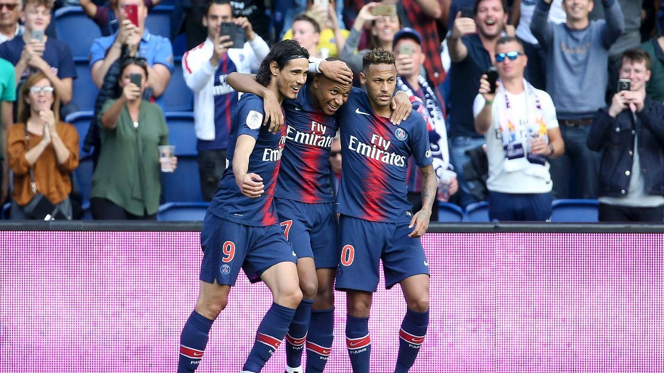 Edinson Cavani, Kylian Mbappe and Neymar all scored in the 2018-19 debut of 'MCN'.