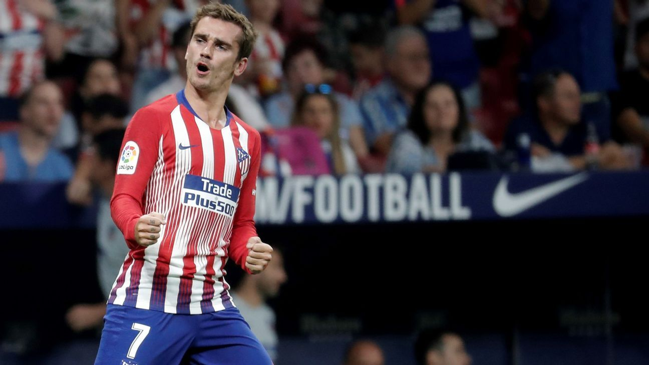 Antoine Griezmann's second-half goal was enough as Atletico hung on to beat Rayo Vallecano.