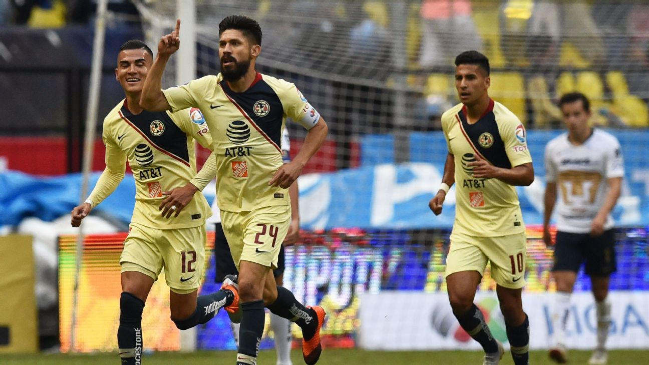 Oribe Peralta and Club America were able to salvage a 2-2 tie against Mexico City rivals Pumas on Saturday.