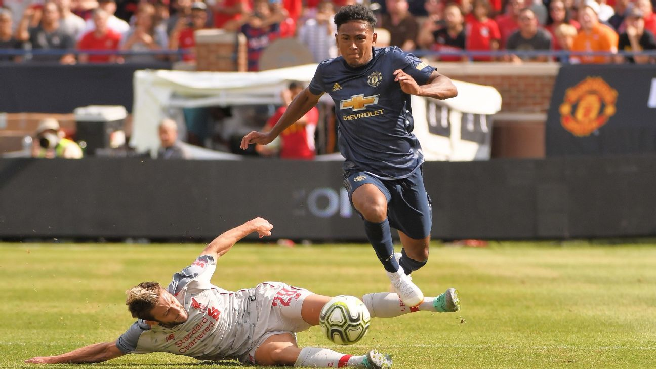 Demetri Mitchell was part of Manchester United's squad for their preseason tour of the United States.