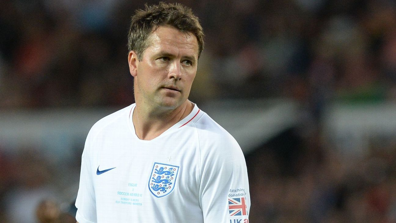 Michael Owen during a Soccer Aid match.