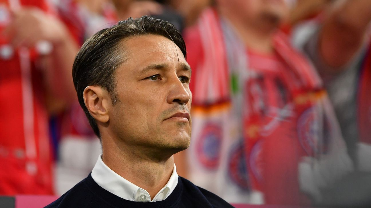 Bayern Munich coach Niko Kovac during a Bundesliga game against Hoffenheim.