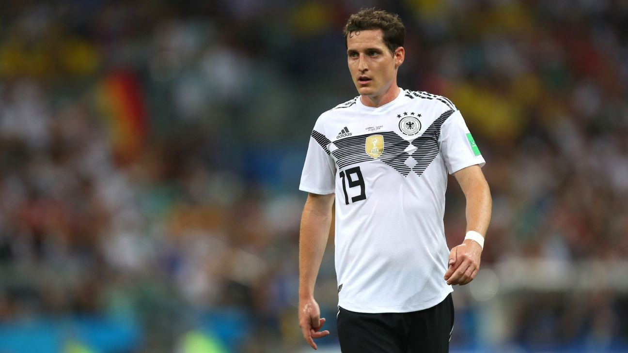 Sebastian Rudy during Germany's World Cup game against Sweden.