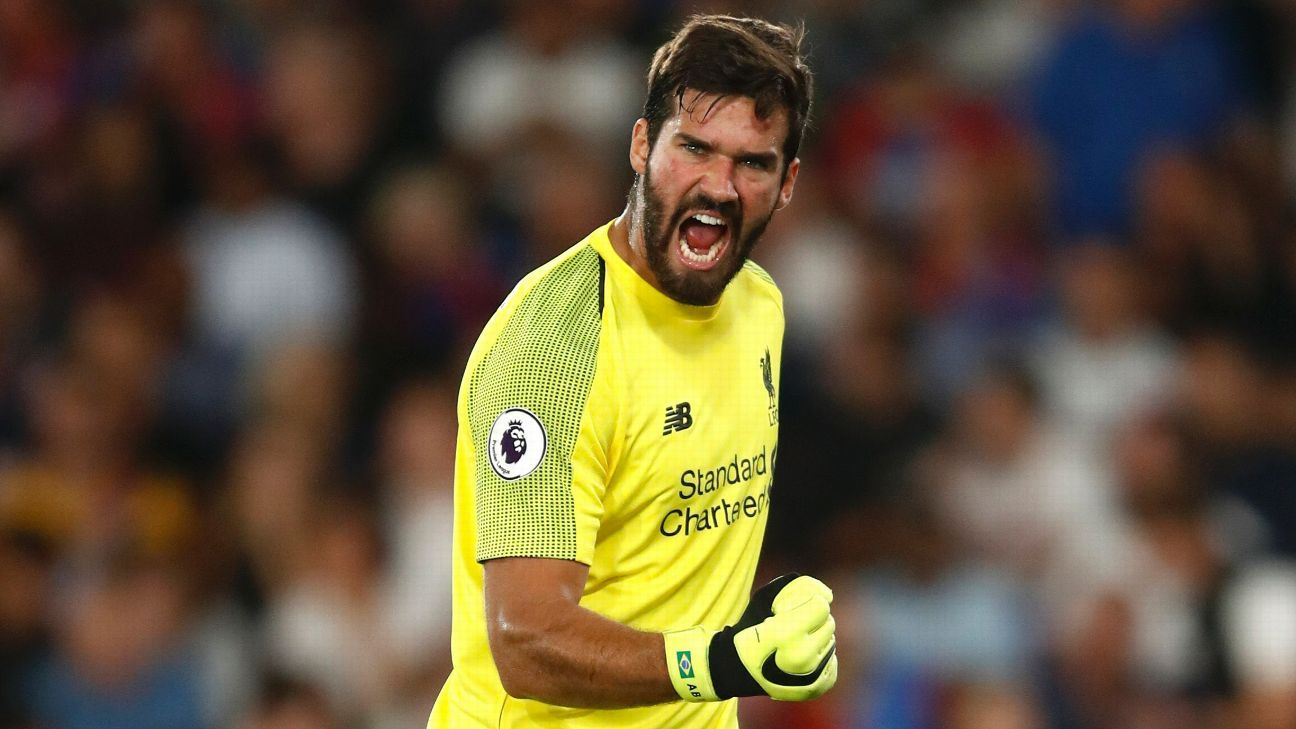 Liverpool goalkeeper Alisson has enjoyed a strong start to his career in England.