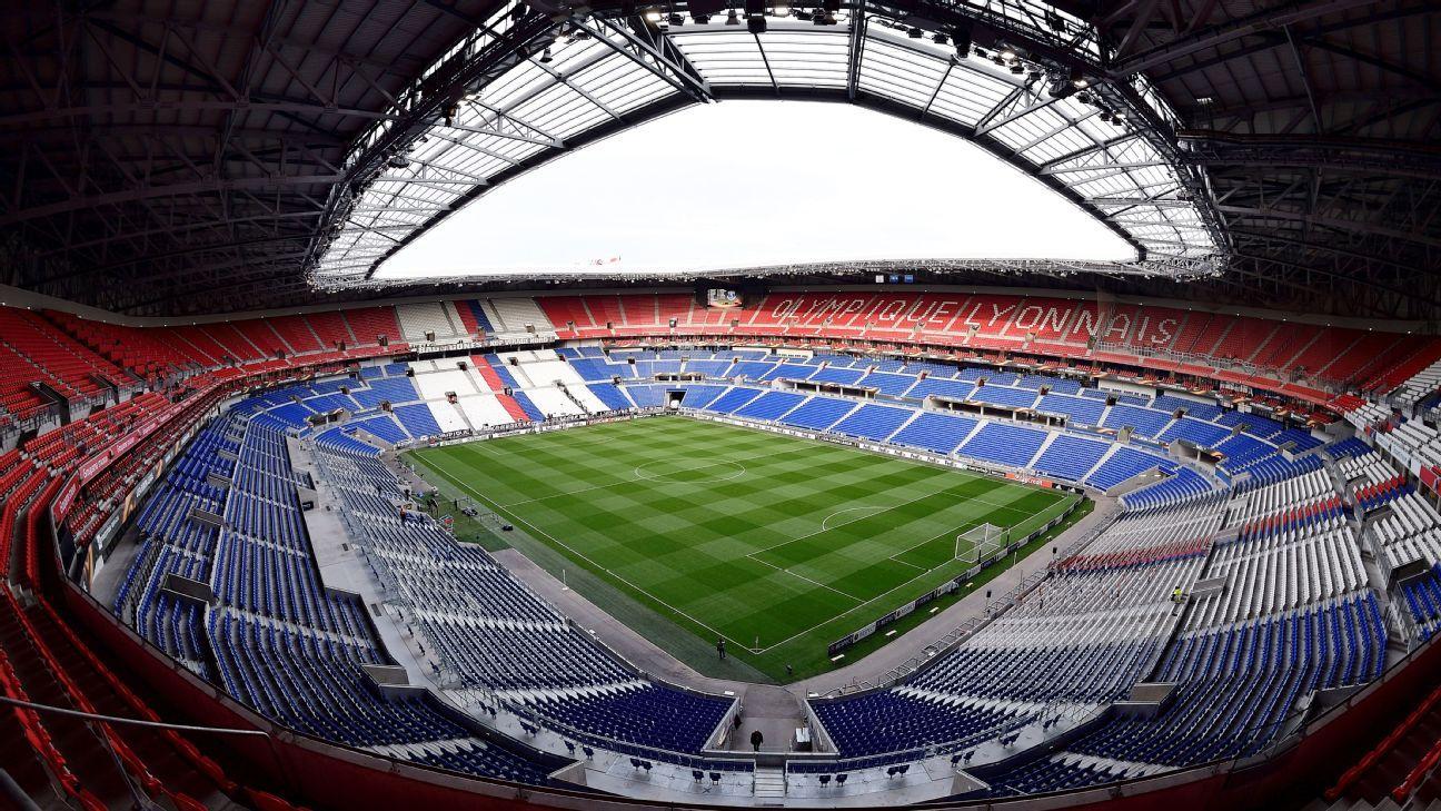 The Groupama Stadium in Lyon, France.