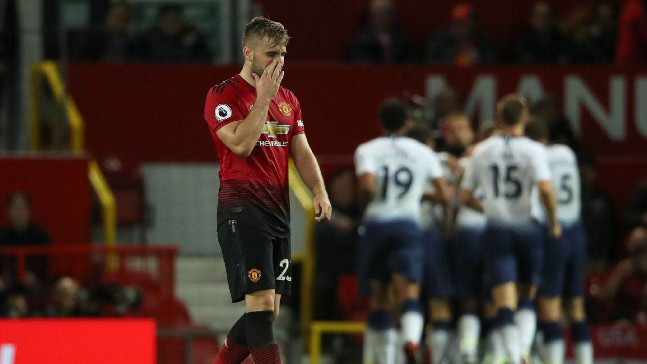 Luke Shaw could be leaving Manchester United amid interest from Tottenham.