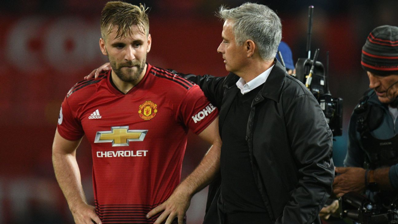 Luke Shaw was praised by Jose Mourinho in the wake of Manchester United's 3-0 defeat to Tottenham.