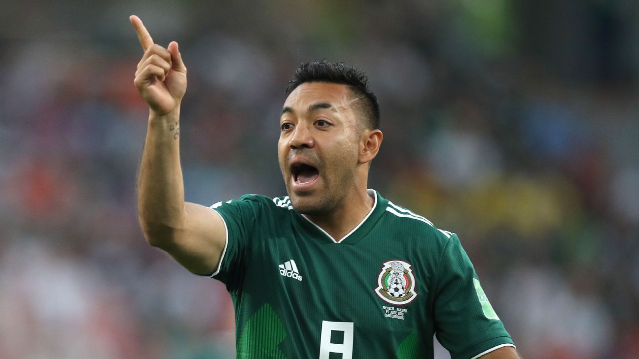 Mexico's Marco Fabian during the World Cup game against Sweden.