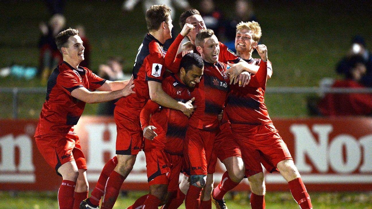 Redlands United celebrate