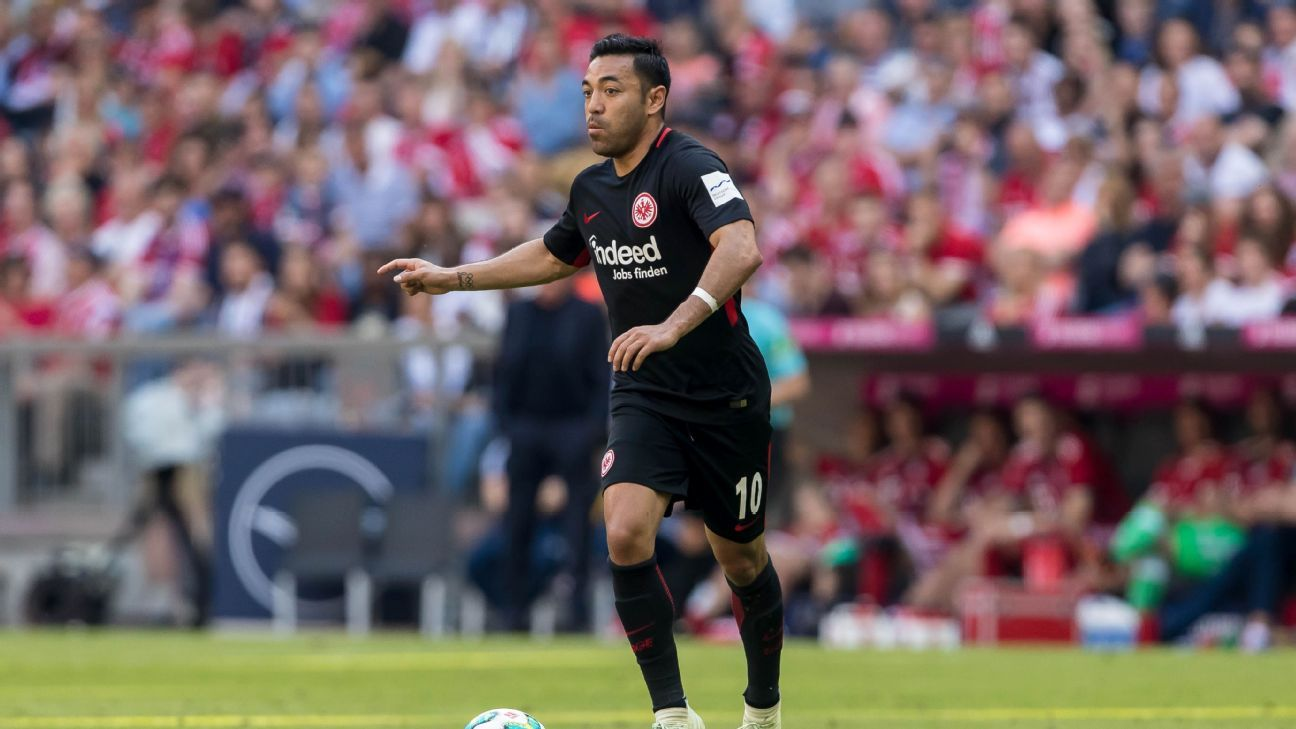 Marco Fabian has scored eight goals and added six assists in 42 league games for Eintracht Frankfurt.