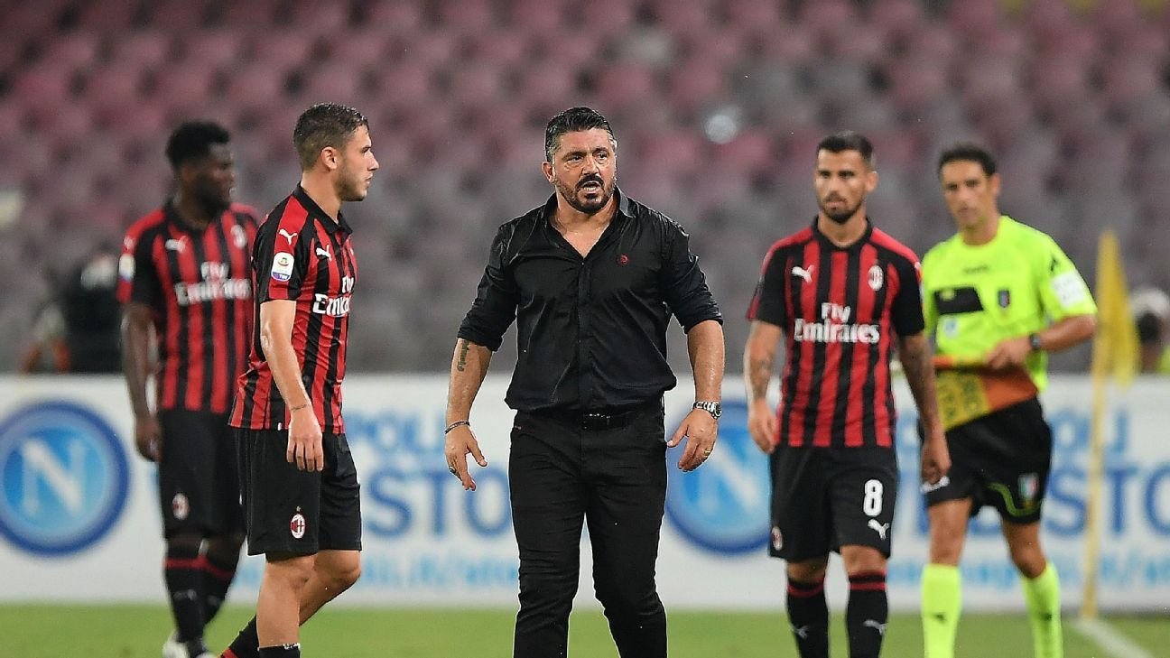 Gennaro Gattuso and Milan have no time to lick their wounds after squandering a 2-0 lead at Napoli.