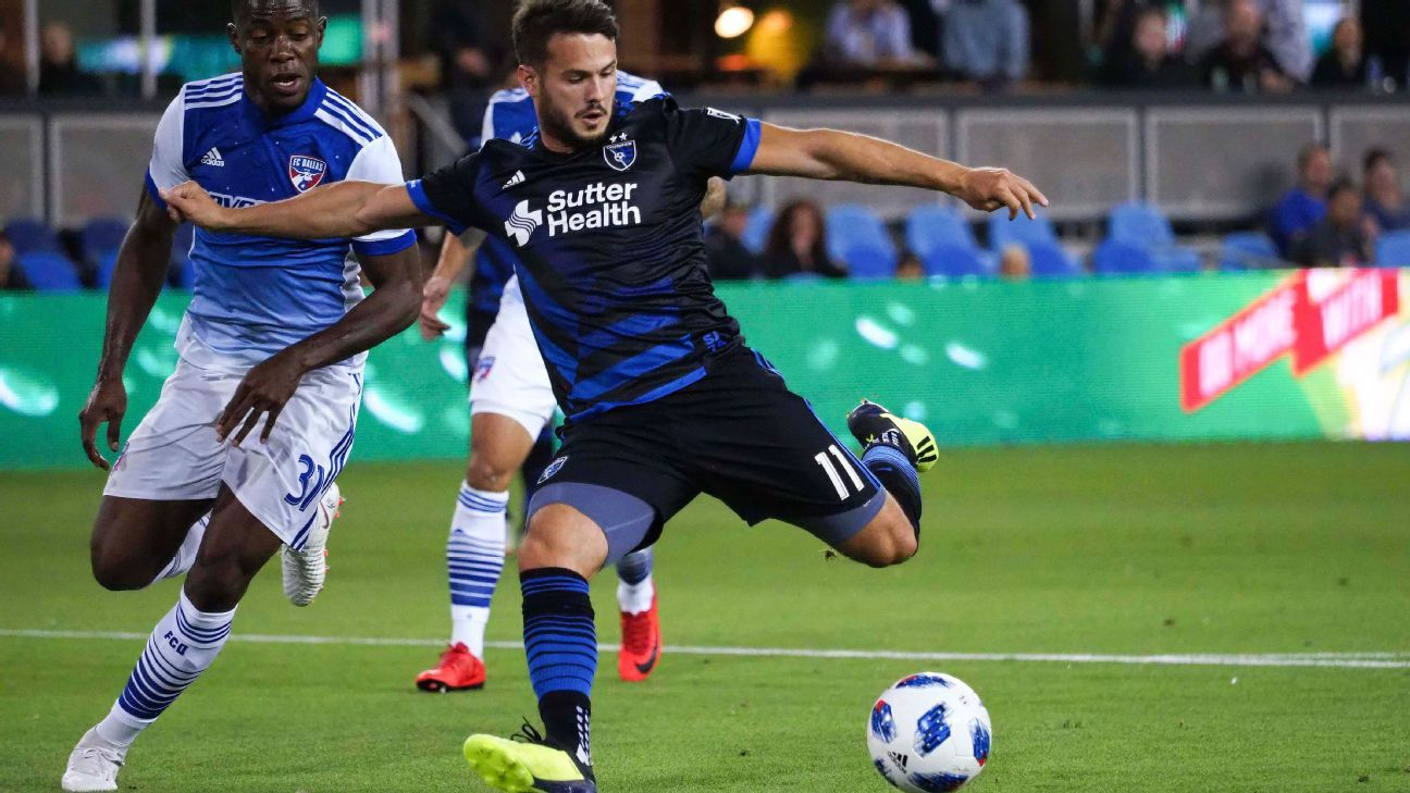 Last-place San Jose Earthquakes complete unlikely sweep of FC Dallas