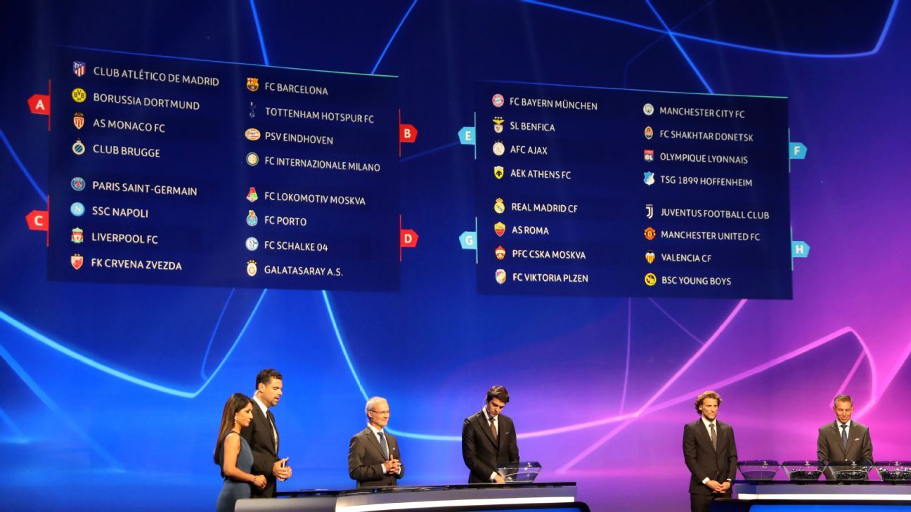 The draw for the 2018-19 Champions League group stage took place last week.