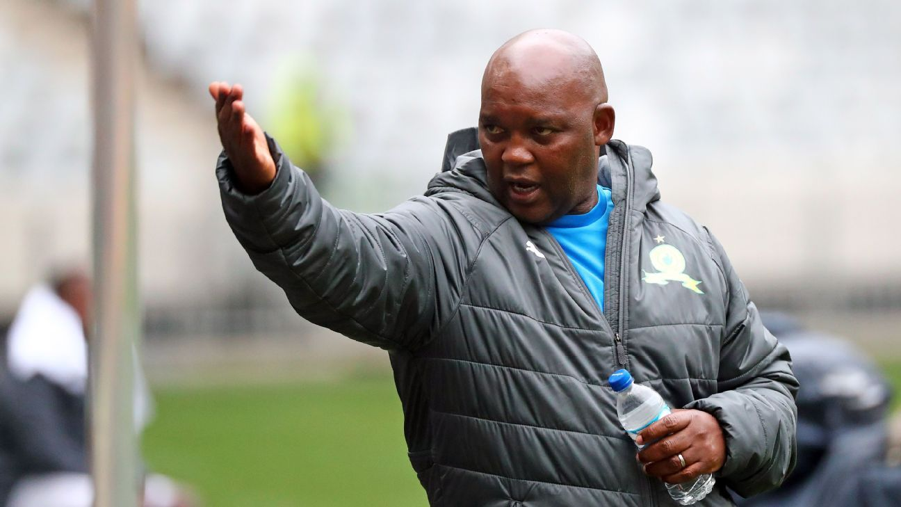 Pitso Mosimane, head coach of Mamelodi Sundowns, during the 2018 MTN8 semifinal first leg