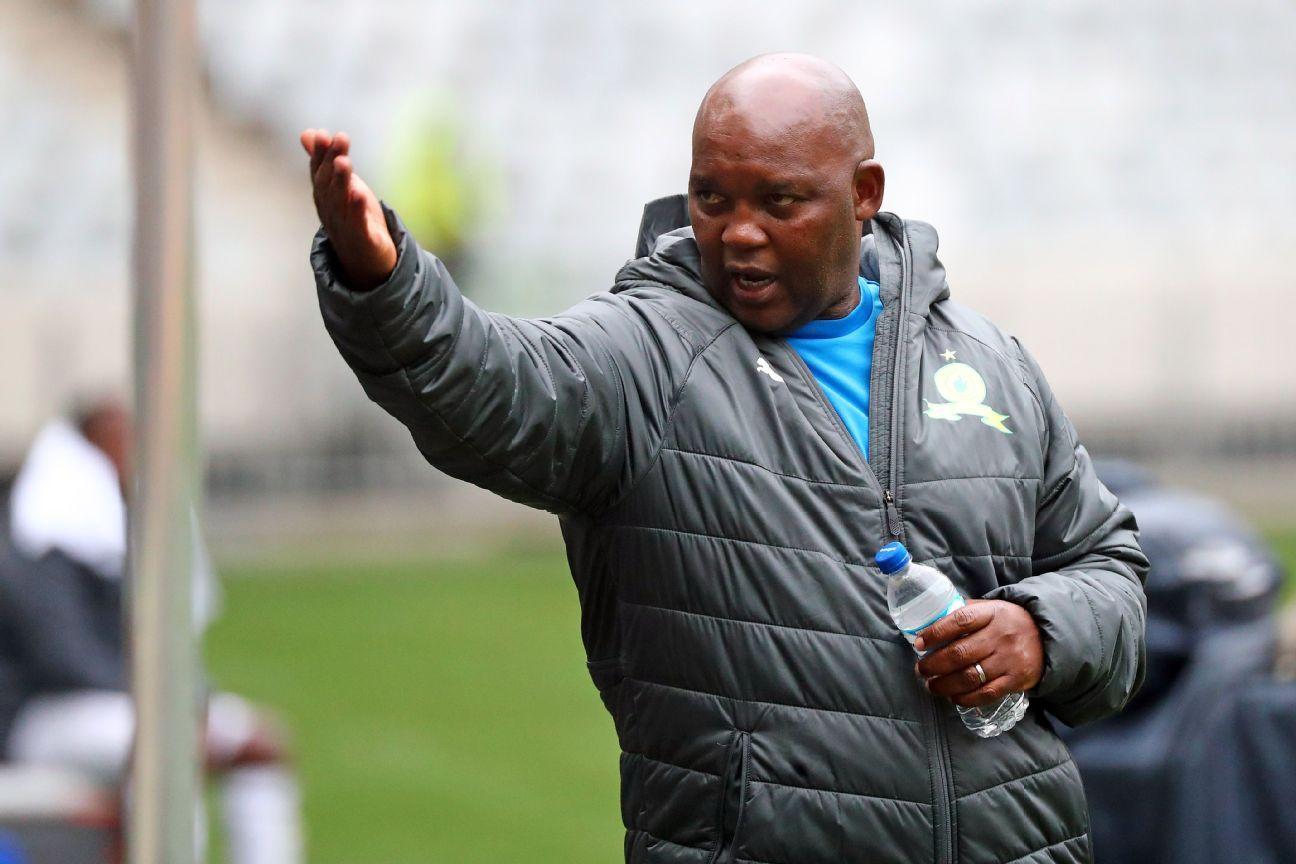 Pitso Mosimane, head coach of Mamelodi Sundowns, during the 2018 MTN8 semifinal first leg