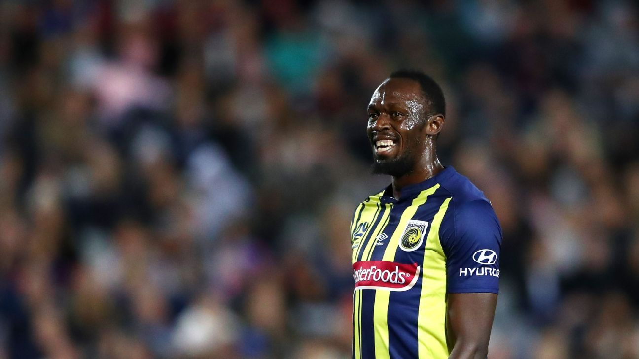 Usain Bolt is on trial with Central Coast Mariners.