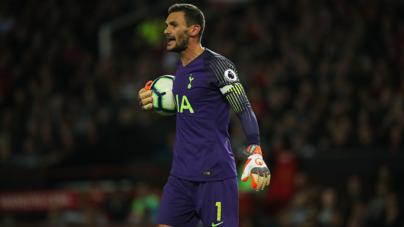 Hugo Lloris captained Tottenham in their 3-0 win at Manchester United.