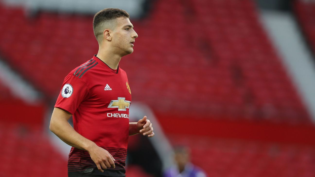 Diogo Dalot shown here in action for the Manchester United U23s in a 1-0 win against Stoke City.