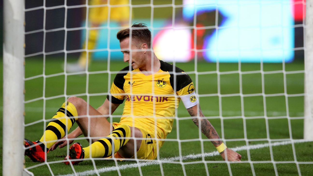 Marco Reus was unable to convert two golden chances that would have won it for Dortmund.