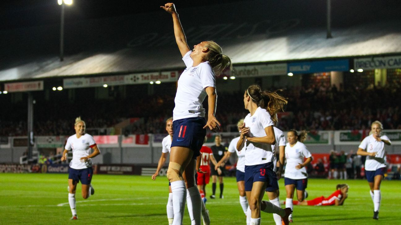 Toni Duggan of England Women celebrates.