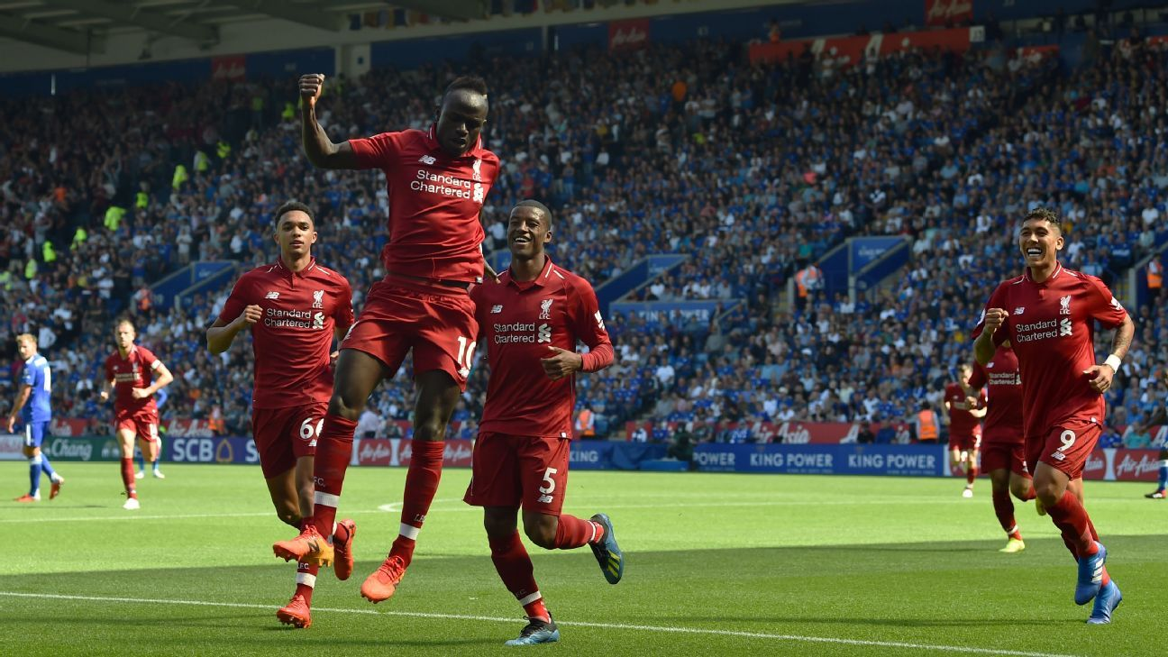 Sadio Mane opened the scoring for Liverpool with his fourth Premier League goal of the season.