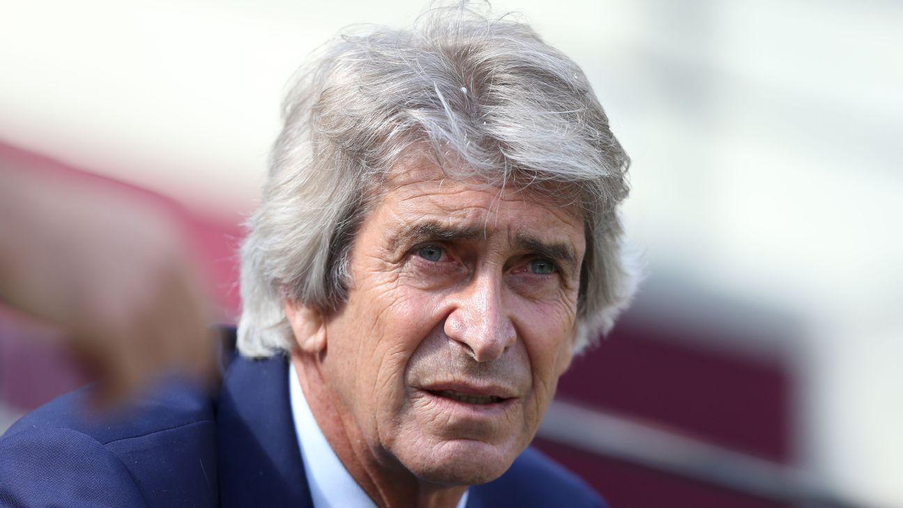 West Ham United manager Manuel Pellegrini.