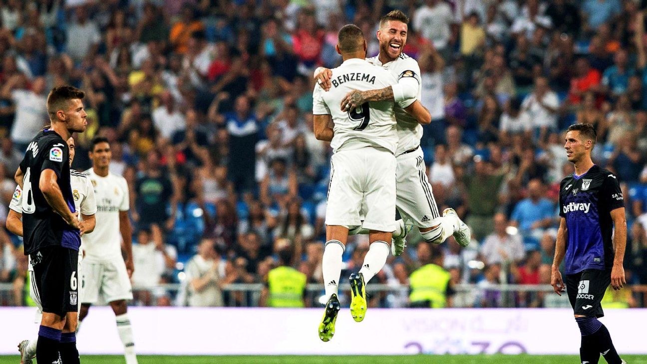 Joy was in the air on a day when Karim Benzema netted two of Real Madrid's four goals.