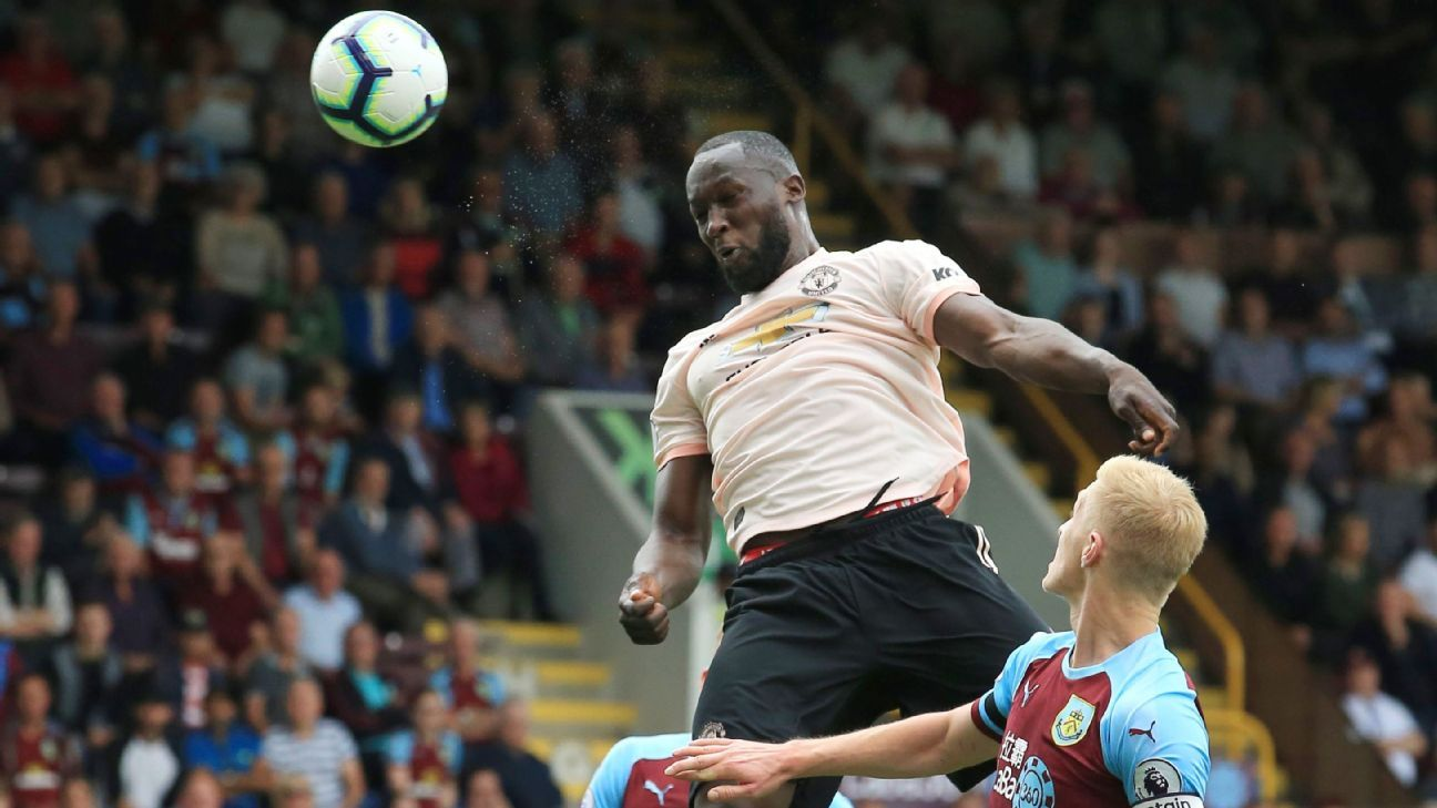 Romelu Lukaku scored both goals as Man United rolled at Burnley.